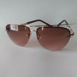 Dana Buchman Sunglasses Brown Gold